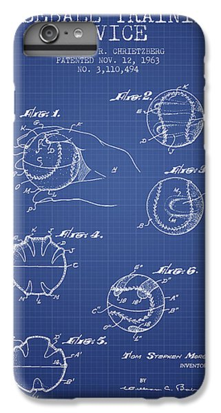 Baseball Cover Patent From 1963- Blueprint IPhone 6s Plus Case by Aged Pixel