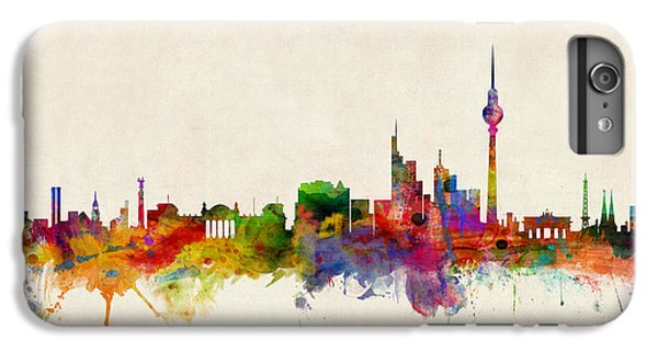 Berlin City Skyline IPhone 6s Plus Case by Michael Tompsett