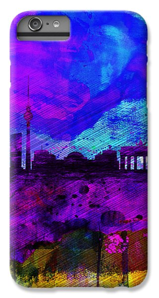 Berlin Watercolor Skyline IPhone 6s Plus Case by Naxart Studio