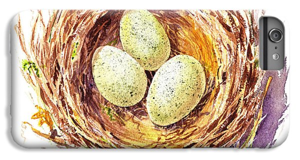 Bird Nest A Happy Trio IPhone 6s Plus Case by Irina Sztukowski