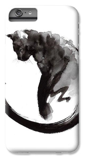 Black Cat IPhone 6s Plus Case by Mariusz Szmerdt