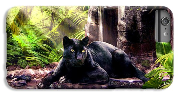 Black Panther Custodian Of Ancient Temple Ruins  IPhone 6s Plus Case by Regina Femrite