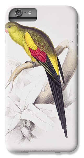 Black Tailed Parakeet IPhone 6s Plus Case by Edward Lear
