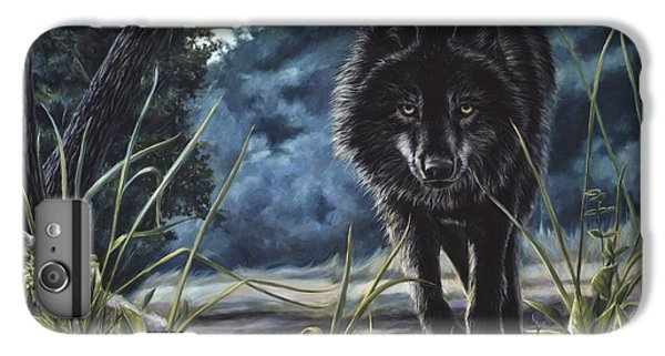 Black Wolf Hunting IPhone 6s Plus Case by Lucie Bilodeau