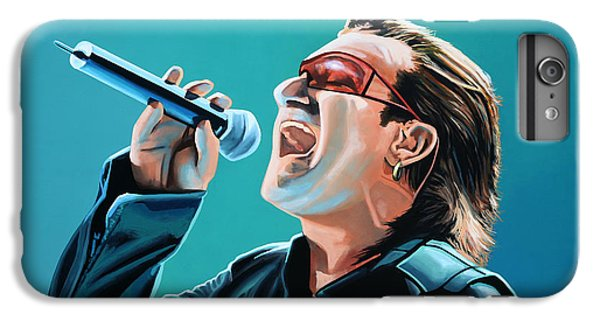 Bono Of U2 Painting IPhone 6s Plus Case by Paul Meijering