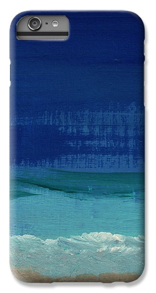 Calm Waters- Abstract Landscape Painting IPhone 6s Plus Case by Linda Woods