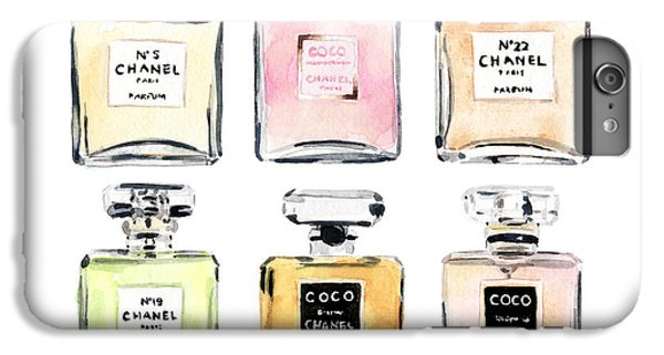 Chanel Perfumes IPhone 6s Plus Case by Laura Row Studio