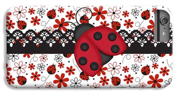 Charming Ladybugs IPhone 6s Plus Case by Debra  Miller