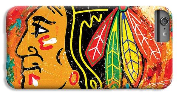 Chicago Blackhawks Logo IPhone 6s Plus Case by Elliott From