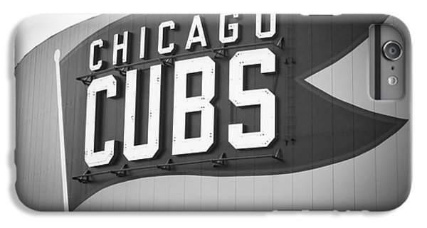 Chicago Cubs Wrigley Field Sign Black And White Picture IPhone 6s Plus Case by Paul Velgos