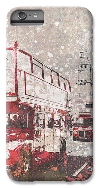 City-art London Red Buses II IPhone 6s Plus Case by Melanie Viola