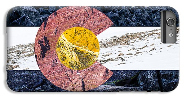 Colorado State Flag With Mountain Textures IPhone 6s Plus Case by Aaron Spong
