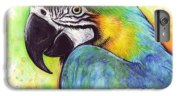 Macaw Watercolor IPhone 6s Plus Case by Olga Shvartsur
