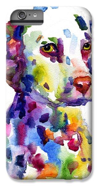 Colorful Dalmatian Puppy Dog Portrait Art IPhone 6s Plus Case by Svetlana Novikova