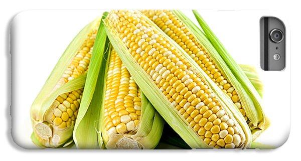 Corn Ears On White Background IPhone 6s Plus Case by Elena Elisseeva