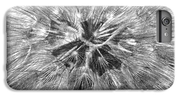 Dandelion Fireworks In Black And White IPhone 6s Plus Case by Rona Black