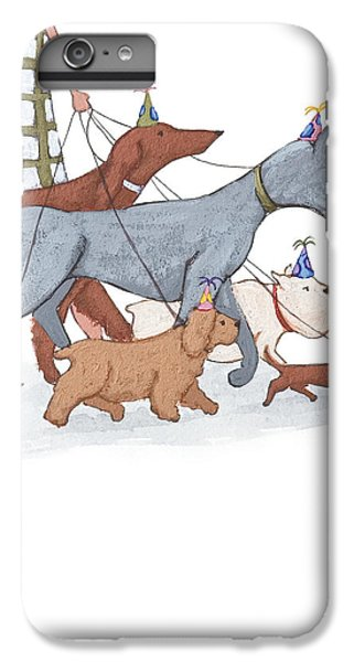 Dog Walker IPhone 6s Plus Case by Christy Beckwith