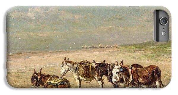 Donkeys On The Beach IPhone 6s Plus Case by Johannes Hubertus Leonardus de Haas