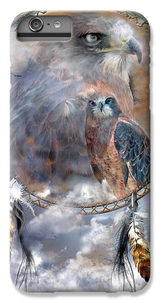 Dream Catcher - Hawk Spirit IPhone 6s Plus Case by Carol Cavalaris