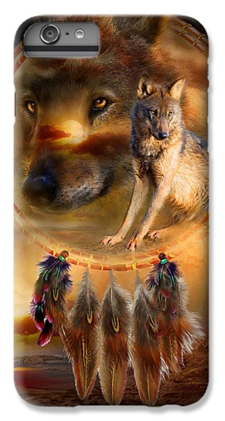 Dream Catcher - Wolfland IPhone 6s Plus Case by Carol Cavalaris