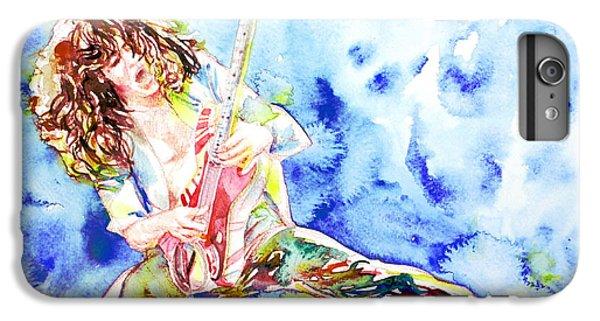 Eddie Van Halen Playing The Guitar.1 Watercolor Portrait IPhone 6s Plus Case by Fabrizio Cassetta