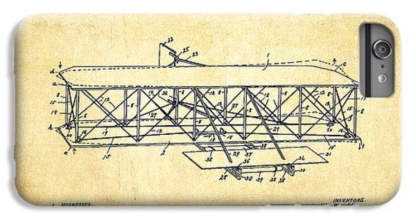 Flying Machine Patent Drawing From 1906 - Vintage IPhone 6s Plus Case by Aged Pixel