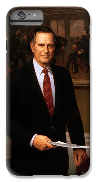 George Hw Bush Presidential Portrait IPhone 6s Plus Case by War Is Hell Store