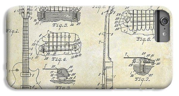 Gibson Les Paul Patent Drawing IPhone 6s Plus Case by Jon Neidert