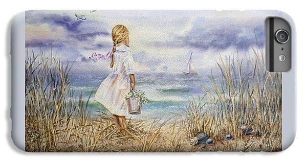 Girl At The Ocean IPhone 6s Plus Case by Irina Sztukowski