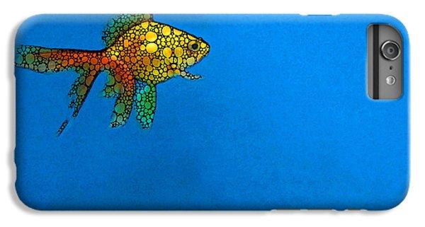Goldfish Study 4 - Stone Rock'd Art By Sharon Cummings IPhone 6s Plus Case by Sharon Cummings