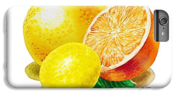 Grapefruit Lemon Orange IPhone 6s Plus Case by Irina Sztukowski