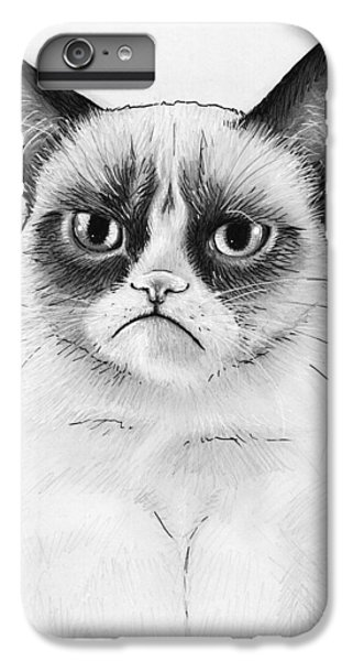 Grumpy Cat Portrait IPhone 6s Plus Case by Olga Shvartsur
