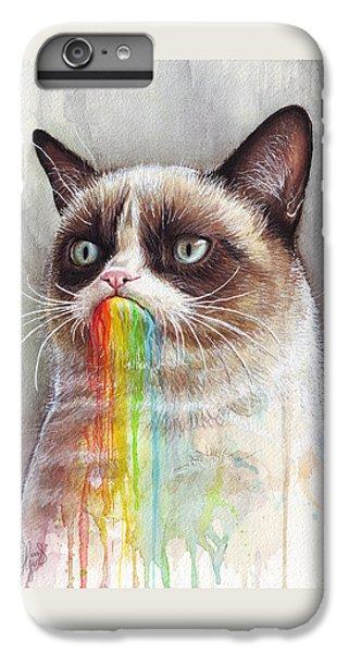 Grumpy Cat Tastes The Rainbow IPhone 6s Plus Case by Olga Shvartsur