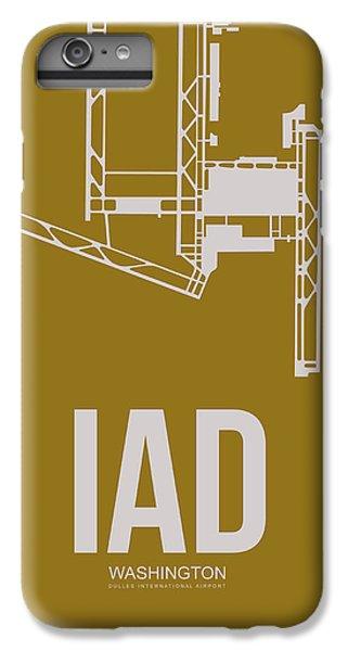 Iad Washington Airport Poster 3 IPhone 6s Plus Case by Naxart Studio