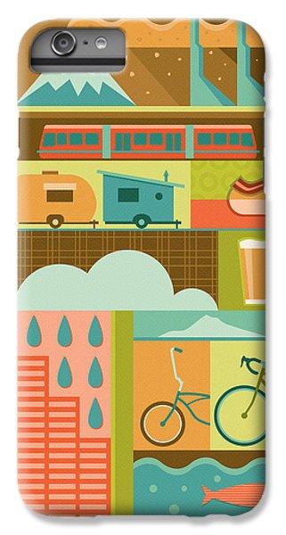 Iconic Portland IPhone 6s Plus Case by Mitch Frey