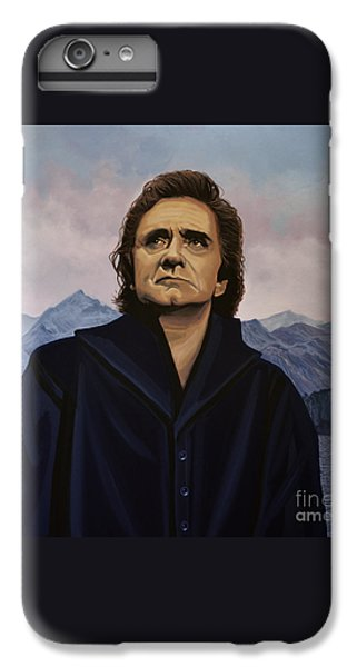 Johnny Cash Painting IPhone 6s Plus Case by Paul Meijering