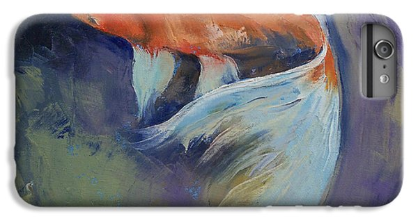Koi Fish Painting IPhone 6s Plus Case by Michael Creese