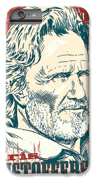 Kris Kristofferson Pop Art IPhone 6s Plus Case by Jim Zahniser