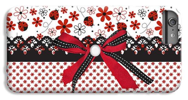 Ladybug Whisper  IPhone 6s Plus Case by Debra  Miller