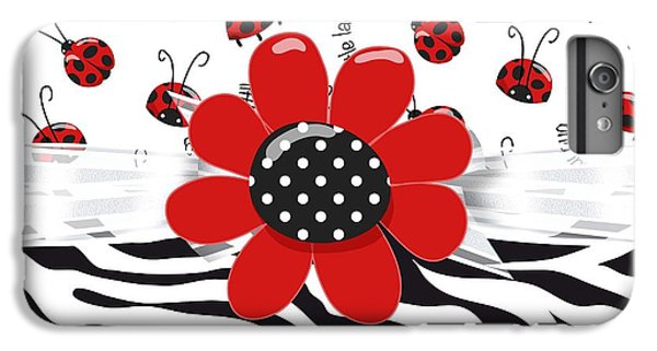 Ladybug Wild Thing IPhone 6s Plus Case by Debra  Miller