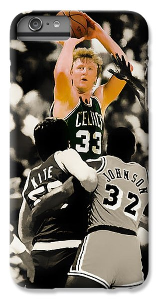 Larry Bird IPhone 6s Plus Case by Brian Reaves