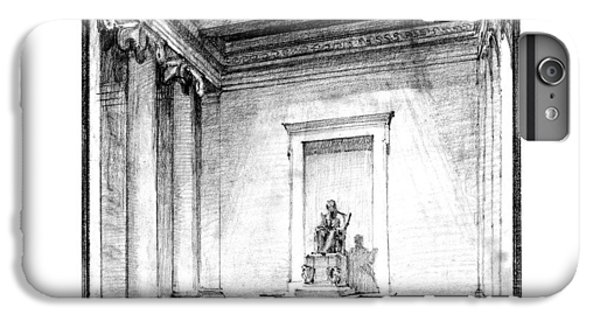 Lincoln Memorial Sketch IIi IPhone 6s Plus Case by Gary Bodnar