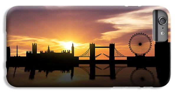 London Sunset Skyline  IPhone 6s Plus Case by Aged Pixel