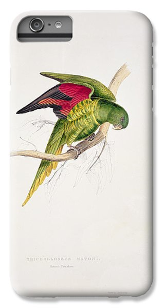 Matons Parakeet IPhone 6s Plus Case by Edward Lear