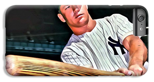 Mickey Mantle Painting IPhone 6s Plus Case by Florian Rodarte