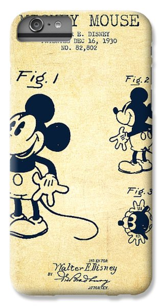 Mickey Mouse Patent Drawing From 1930 - Vintage IPhone 6s Plus Case by Aged Pixel