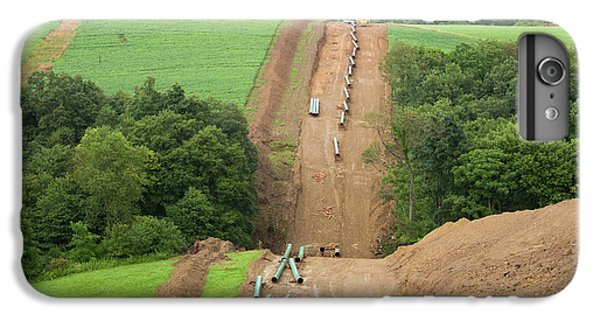 Natural Gas Pipeline Construction IPhone 6s Plus Case by Jim West