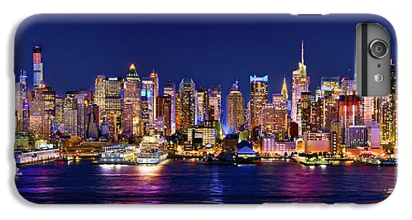 New York City Nyc Midtown Manhattan At Night IPhone 6s Plus Case by Jon Holiday