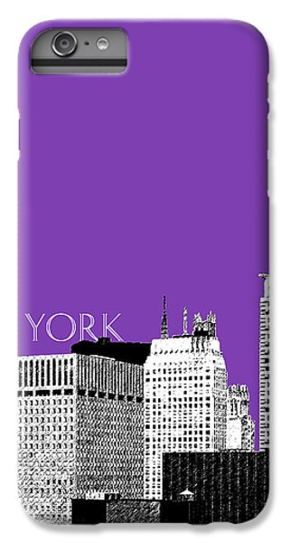 New York Skyline Chrysler Building - Purple IPhone 6s Plus Case by DB Artist
