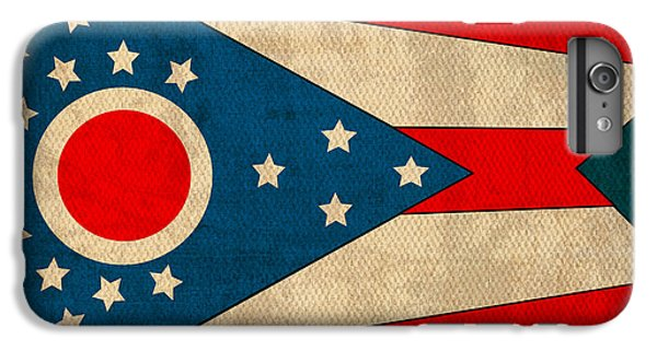 Ohio State Flag Art On Worn Canvas IPhone 6s Plus Case by Design Turnpike